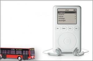 Imagen de iPod 3G y autobús