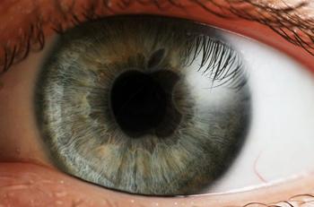 Ojo con pupila logo Apple