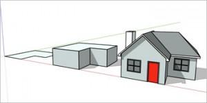 Casa modelado 3D