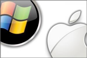 Logo PC y logo Apple