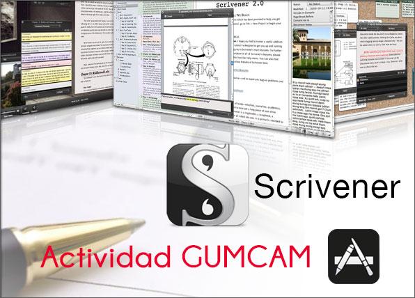 Actividad GUMCAM: Introducción a Scrivener – 18 de octubre de 2014